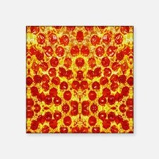 "Cute Pepperoni Square Sticker 3"" x 3"""