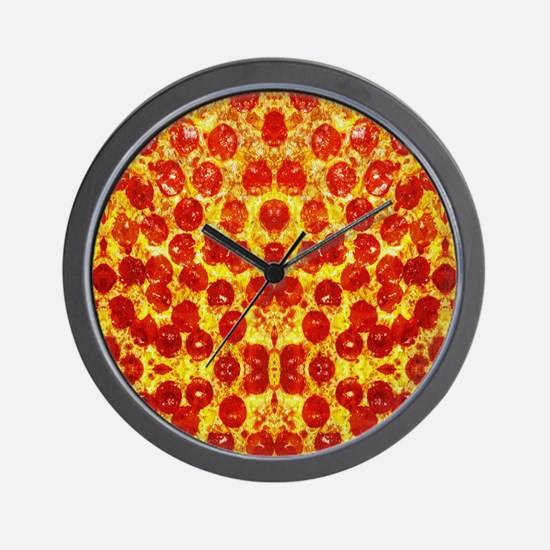 Cute Pepperoni Wall Clock