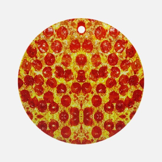 Unique Pepperoni Round Ornament