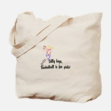 Basketball Girls Tote Bag
