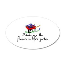 Friends Are Flowers Wall Decal