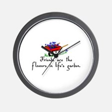 Friends Are Flowers Wall Clock