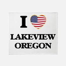 I love Lakeview Oregon Throw Blanket