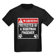 Protected By A Doberman Pinscher T-Shirt