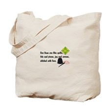 Lives Are Quilts Tote Bag