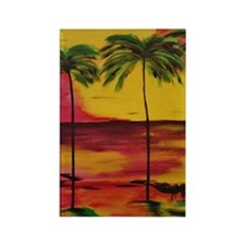 Cute Hammocks beach Rectangle Magnet