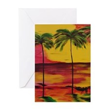 Unique Palm beach Greeting Card