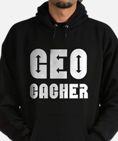 Geocacher Arrows White Hoodie