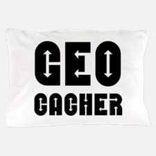Geocacher Arrows Black Pillow Case