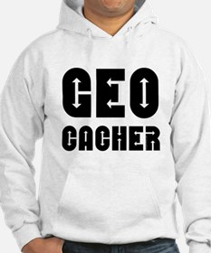 Geocacher Arrows Black Hoodie