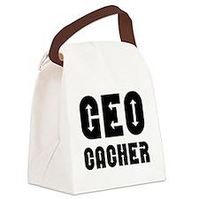 Geocacher Arrows Black Canvas Lunch Bag