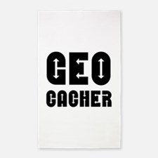Geocacher Arrows Black Area Rug