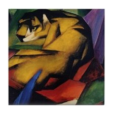 The Tiger by Franz Marc Tile Coaster