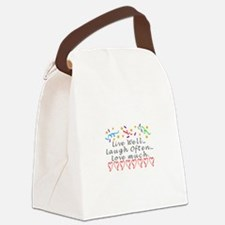 Live, Laugh, Love Canvas Lunch Bag
