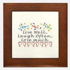 Live, Laugh, Love Framed Tile