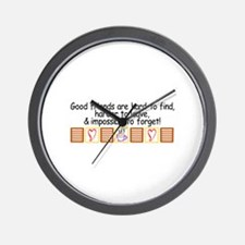 Good Friends Wall Clock