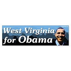 West Virginia for Obama bumper sticker