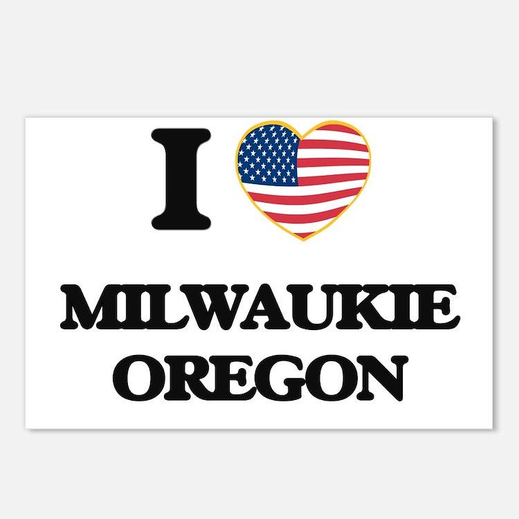 I love Milwaukie Oregon Postcards (Package of 8)