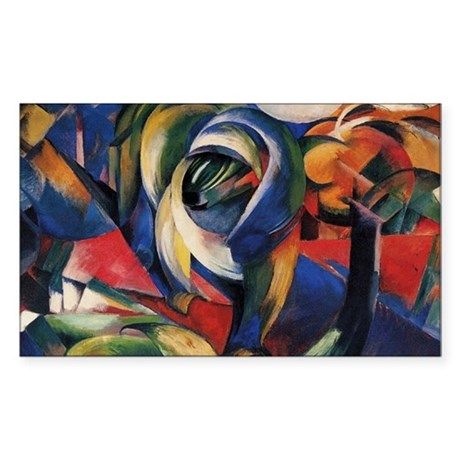 The Mandrill by Franz Marc Rectangle Sticker