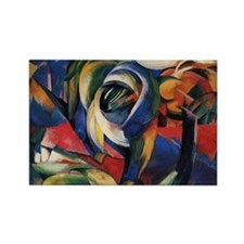 The Mandrill by Franz Marc Rectangle Magnet 10/pk