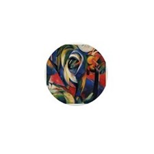 The Mandrill by Franz Marc Mini Button