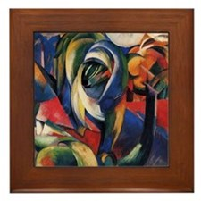 The Mandrill by Franz Marc Framed Tile