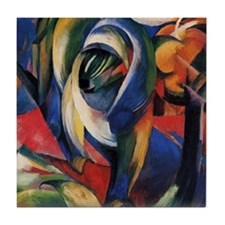 The Mandrill by Franz Marc Tile Coaster