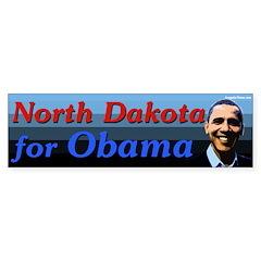 North Dakota for Obama bumper sticker