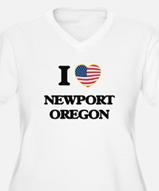 I love Newport Oregon Plus Size T-Shirt