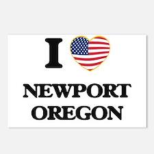 I love Newport Oregon Postcards (Package of 8)