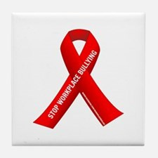 Red Ribbons for Workplace Bullying Awareness Tile