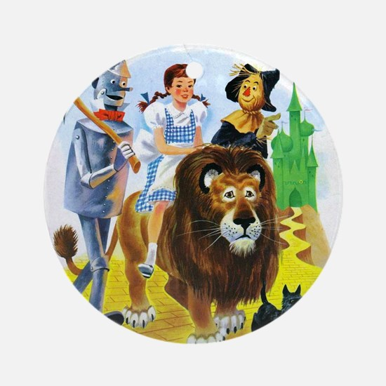 Wizard of Oz - Follow the Yellow Br Round Ornament