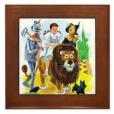 Wiz of Oz - Follow the Yellow Brick Road Framed Ti