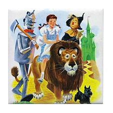 Wiz of Oz - Follow the Yellow Brick Road Tile Coas
