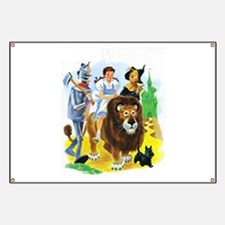 Wiz of Oz - Follow the Yellow Brick Road Banner