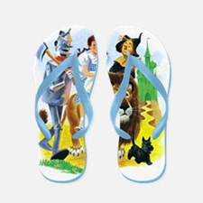 Wiz Of Oz - Follow The Yellow Brick Flip Flops