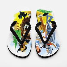 Wizard of Oz - Follow the Yellow Brick Flip Flops