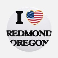 I love Redmond Oregon Ornament (Round)