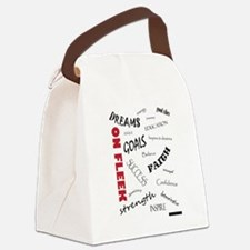 Dreams On Fleek Canvas Lunch Bag