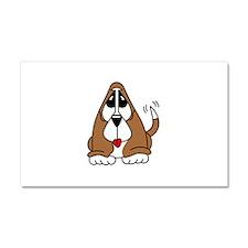 Basset Hound Puppy Car Magnet 20 x 12