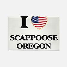 I love Scappoose Oregon Magnets