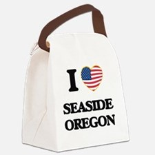 I love Seaside Oregon Canvas Lunch Bag