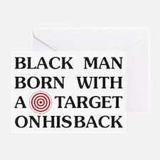 Black man target Greeting Card