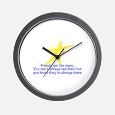 Friends Are Like Stars Wall Clock