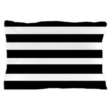 black stripped-2 Pillow Case
