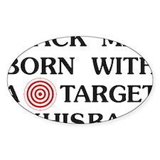 Black man target Decal