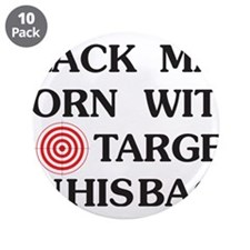 "Black man target 3.5"" Button (10 pack)"