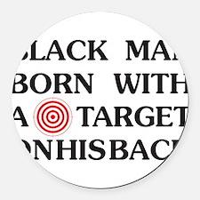 Black man target Round Car Magnet
