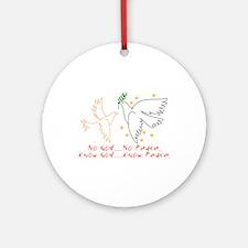 Know God Ornament (Round)