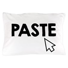 Paste Black Pillow Case